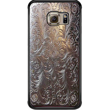 Vintage Cigarette Case Silver Metal For Samsung Galaxy S6 Edge Case **
