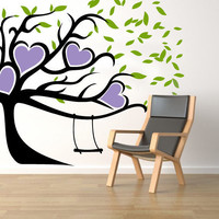 Heart Tree Swing Wall Decal Wall Sticker by easydecals on Etsy