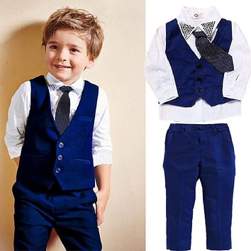 Autumn Toddler Baby Kids Gentleman Clothing Sets