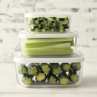 Bormioli Rocco Glass Storage Container Set, Square