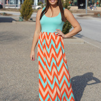 Tri-Color Chevron Maxi
