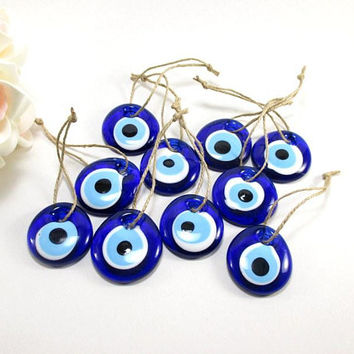 Evil eye wall hanging, Turkish evil eye, Wedding decor, Glass evil eye, Car decor, Evil eye charm, Baby shower decoration, Evil eye bead