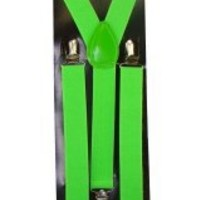 Outer Rebel Fashion Suspenders- Lime Green