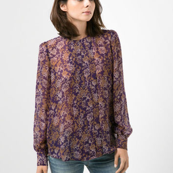 Summer Women's Fashion Vintage Print Blouse [6513242055]