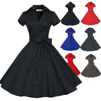 Maggie Tang 50s 60s Vintage Swing Rockabilly Ball Gown Pin up Party Dress Coat = 1930284676