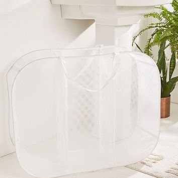 Mesh Triple Sorter Laundry Basket | Urban Outfitters