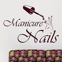 Manicure Wall Decals Girl Hand Spa Decor Nails Design Beauty Salon Bath And Beauty Vinyl Sticker Home Decor Bathroom Art Wall Decor C499