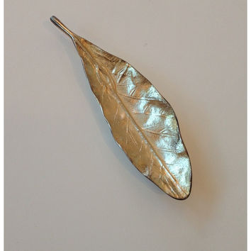 Metallic Leaf Dishes