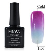 Chameleon Temperature Changing Colour Nail Lacquers Soak Off UV LED Gel Polish Purple - Air Blue