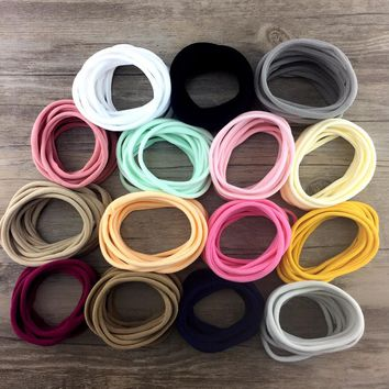 10 pcs/lot, Super Soft THIN Nylon Headbands, Leave no mark skinny headband for DIY Hair Accessories