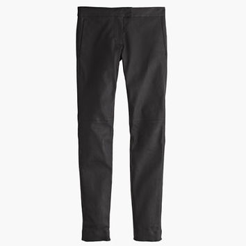 J.Crew Womens Petite Collection Leather Ryder Pant