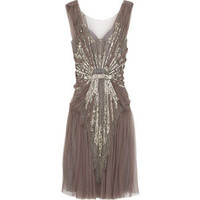 Alberta Ferretti Sequin-embellished tulle dress - [out of stock]