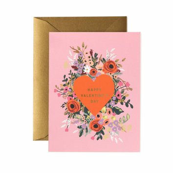 RIFLE PAPER BLOOMING HEART VALENTINE CARD