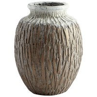 Acorn Large Golden Antique Textured Planter by Cyan Design
