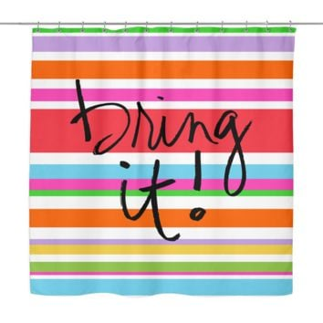 Bring It Shower Curtain | The Inked Elephant