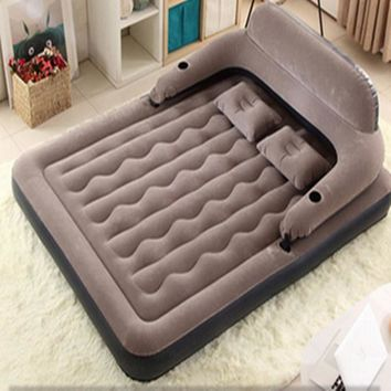 200x150x20cm  Inflatable air mattress bed PVC air mattresses airbed with flocking surface for 2person