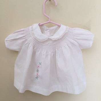 Vintage Baby Dress Size 3 Months, White Baby Dress, Baby Girls Dress, Baby Gift, Baby Shower Gift, Baby Clothes, Baby Clothing, Baby Girl