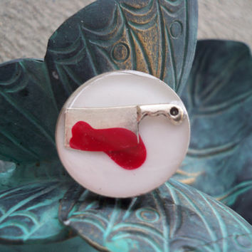 Dexter Inspired Ring - A little Chop Chop goes along way
