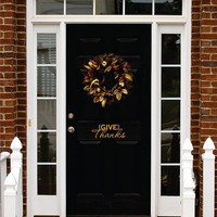 Thanksgiving Vinyl, Give Thanks Decal, Front Door Thanksgiving Decor Vinyl Decal, Give Thanks Holiday Vinyl Lettering Entry Way Porch Decal
