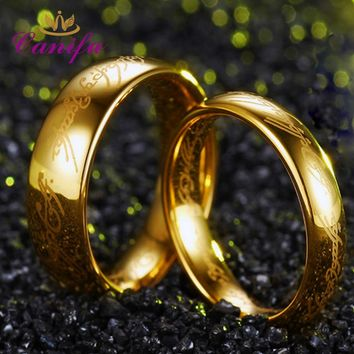 Canifu New arrival The Lord One Titanium Steel Ring Gold Ring  for men fashion wedding ring factory price  freeshipping