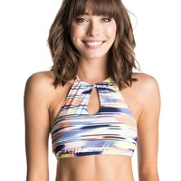 Smooth Ikat Crop Halter Bikini Top 888701790907 | Roxy