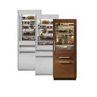 "ZIK30GNDII - Monogram® 30"" Fully Integrated Glass-Door Refrigerator for Dual Installation - The GE Monogram Collection"