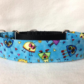 "Monster Mash Mini Martingale or Quick Release Collar 5/8"" Quick Release 3/4"" 1"" Martingale Collar, 1.5"" Martingale Collar 2"""