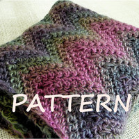 PATTERN Infinity Ripple Cowl Instant Download Crochet Instructions Scarf Pattern Easy Crochet Pattern DIY Pattern, CRPDF1001