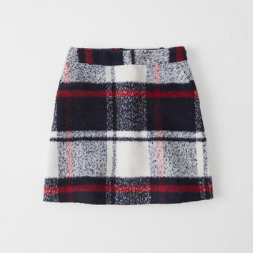 Womens Plaid A-Line Mini Skirt | Womens Bottoms | Abercrombie.com