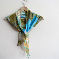 Women Scarf with Rainbow Colors, Triangle Scarf Shawl