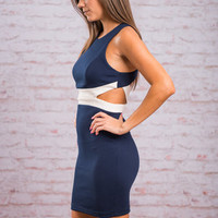 Swoon Enough Dress, Navy