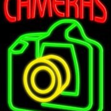 Cameras Handcrafted Real GlassTube Neon Sign