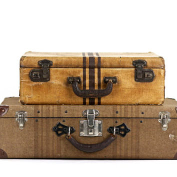 Shop Stacked Suitcases on Wanelo
