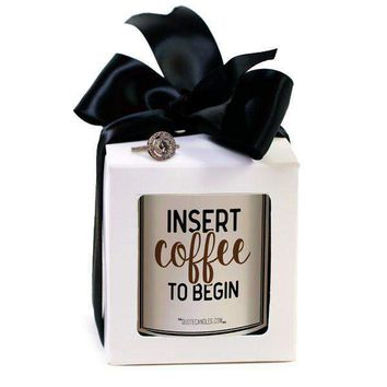 Insert Coffee To Begin | Quote Candles®