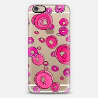 Double pink bubble transparent iPhone case  iPhone 6 case by GosiaandHelena | Casetify
