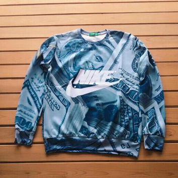 nike fashion money 3d print tops pullover