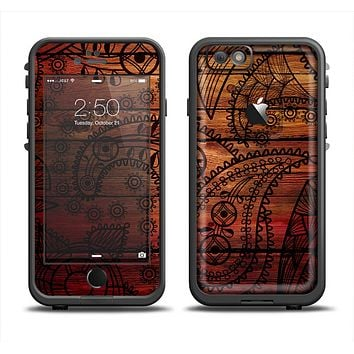 The Tattooed WoodGrain Apple iPhone 6/6s LifeProof Fre Case Skin Set