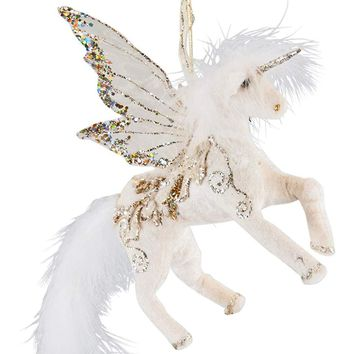 Katherine's Collection Pegasus Unicorn Hanging Ornament