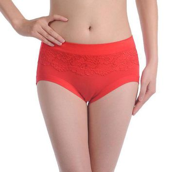 PEAPYV3 Sexy plus size women panties bamboo Fibre ladies' panties high waist women underwear briefs #006