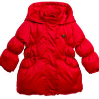 Baby Girls Red Puffer Jacket