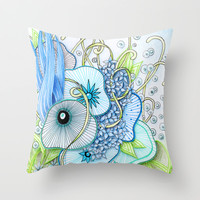 Summer Day Underwater Throw Pillow by Zandiepants | Society6