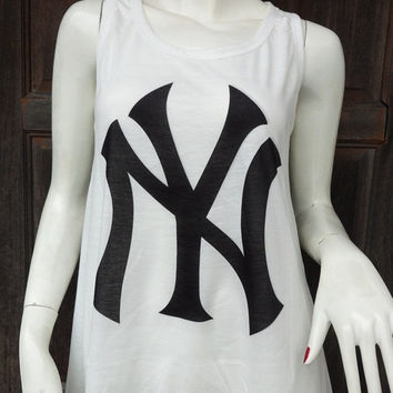 The NY Yankees  -Tank Tops Crop Top Tank T Shirts Free Size - 12