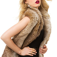 Fur-Ever & Ever Tan Vest