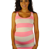 Striped Maternity Tank Tops - So Sienna