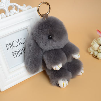 Cute Rabbit Fur Rabbit Doll Key Chain Purse Dangle