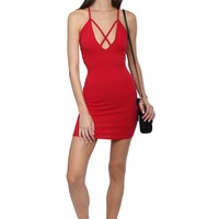 Bianca Criss Cross Mini Dress