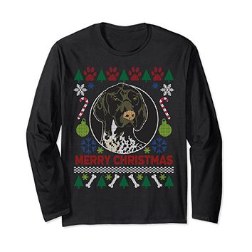 German Shorthair GSP Ugly Christmas Long Sleeve T-shirt