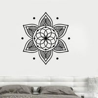 Wall Decal Lotus Mandala Yoga Meditation Buddhism Vinyl Stickers Unique Gift (ig2896)