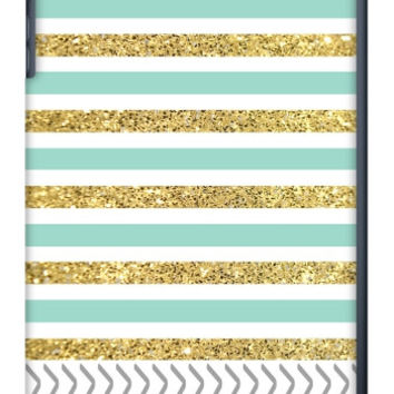 Gold and Tiffany Personalized iPad Mini Slim Case
