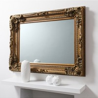 Carved Louis Mirror Gold | French Mirror Gold Leaf | Painted Louis Mirror